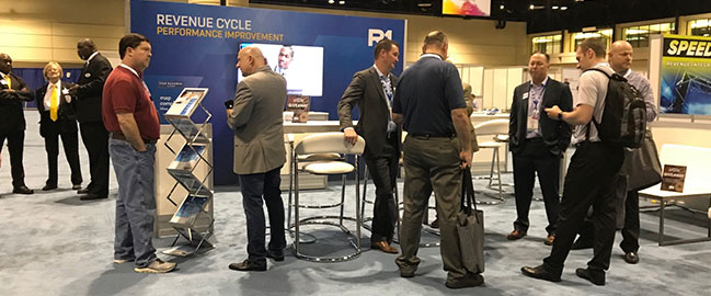 Revenur Cycle conference booth