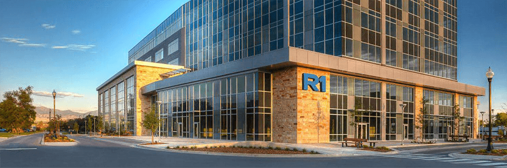 R1 glass office building