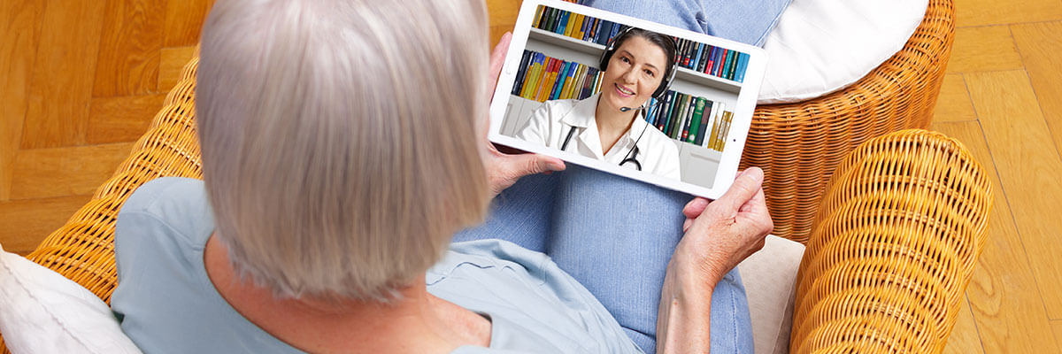 patient using telehealth services